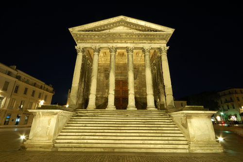 Travelling the past ramparts of civilization - Maison carree nimes ...