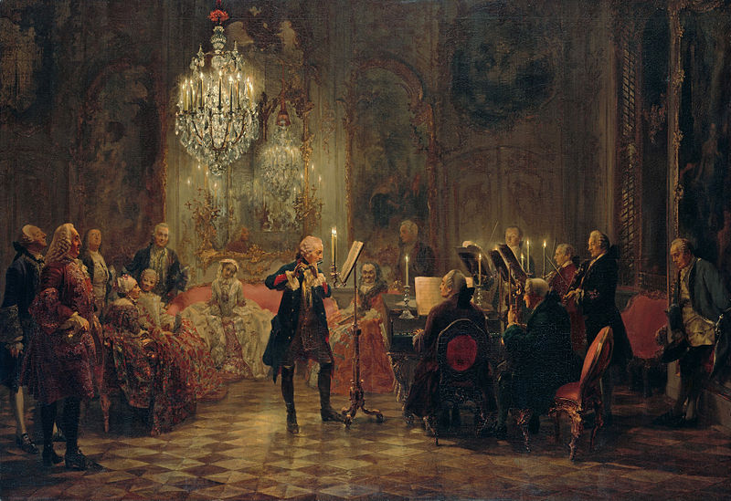 Frederick the Great plays, Carl Philipp Emanuel Bach at Keyboard -wikipedia