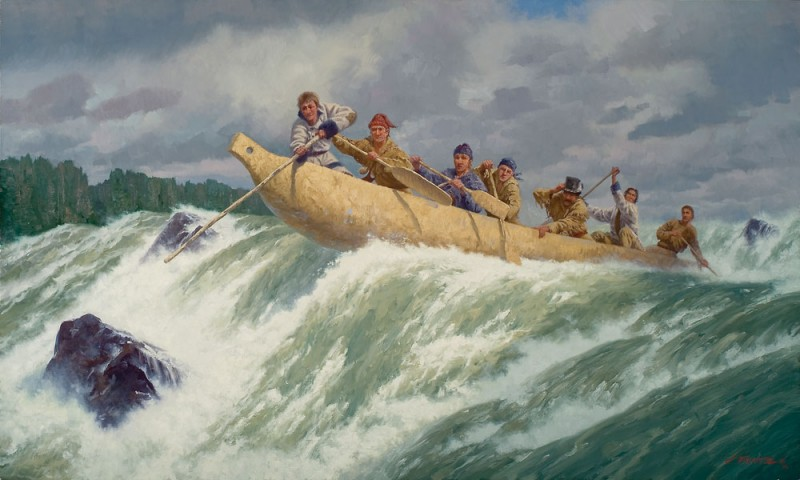 """""""The Corps of Discovery Running the Columbia""""  Charles Fritz"""