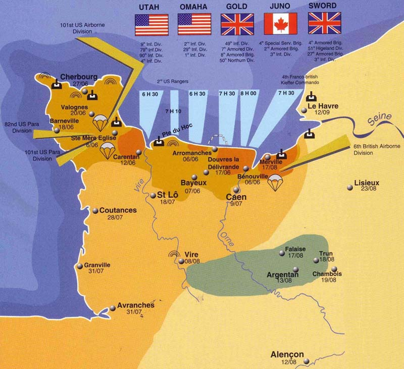 the successful landings in normandy on the d day 6th june 1944 essay D-day, 6 june 1944 and we're going to make it a success' and provides an important eye-witness view of the normandy landings.