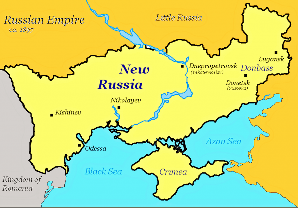 Novorossiya as Putin would see it