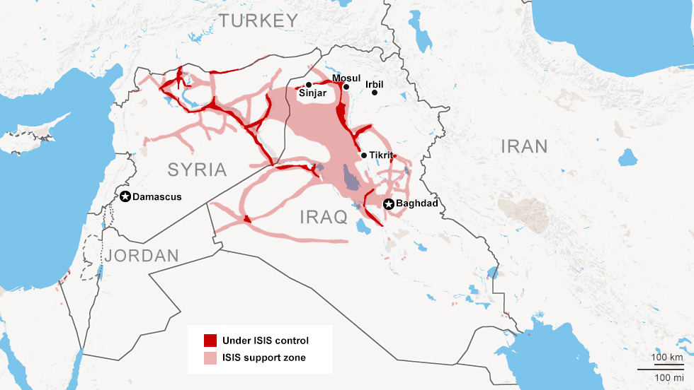 ISIS in Mesopotamia - CNN maps