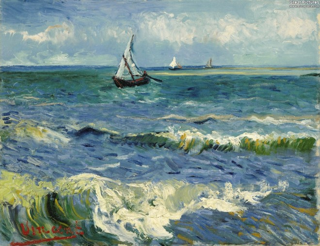 Seascape near Les Saintes-Maries-de-la-Mer, 1888 Vincent Van Gogh