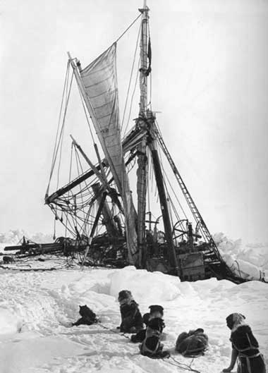 Shackleton's Endurance succumbs to the ice