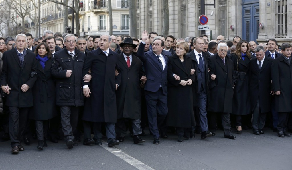Western Leaders Show 'Solidarity' in response to Paris massacre