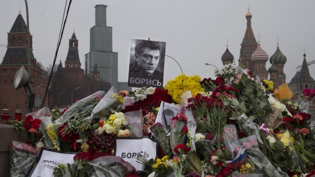 Boris Nemtsov sight of martyrdom in front of the Kremlin