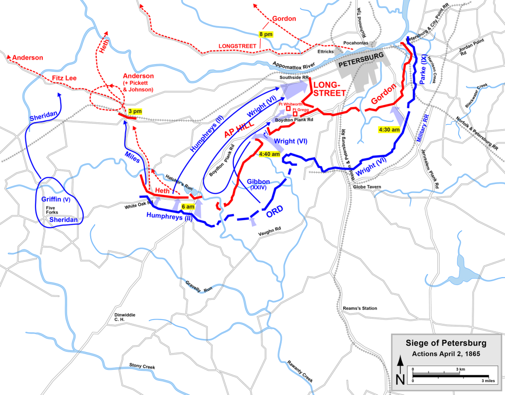 The envelopment of Petersburg April 1-2, 1865