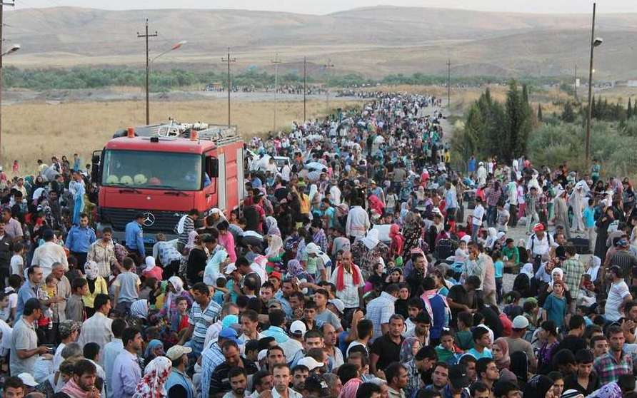 Fleeing for their lives, Syrian Refugees pour into Kurdistan