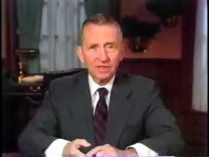 H Ross Perot Presidential candidate 1992