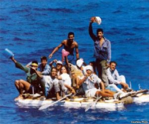 Cubans flee Castro's Cuba across the Florida Straits